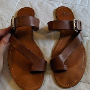 Vince Camuto women's sandals camel leather